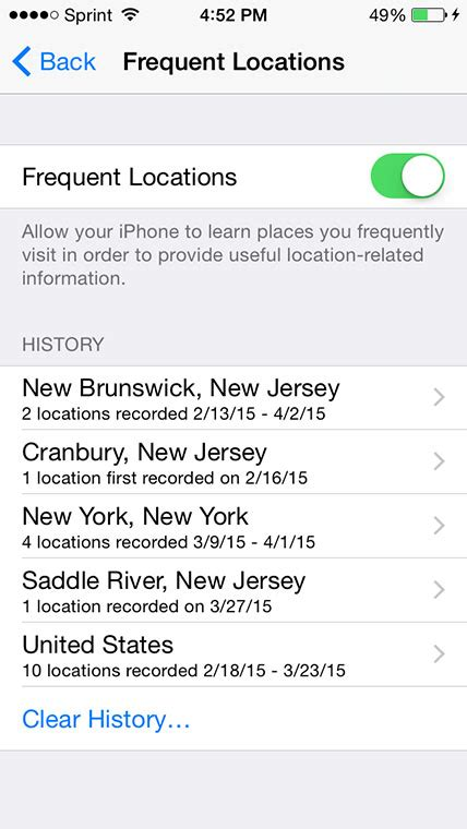 how to view apple maps location history on your iphone