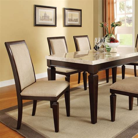 dreamfurniture agatha white marble top dining table set