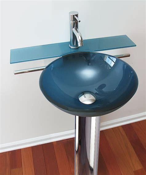 Ebay Bathroom Vanities And Sinks by Frosted Blue Modern Vessel Sink Small Bathroom Vanity With
