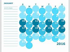 2016 Monthly Calendar Template 16 Free Printable Templates