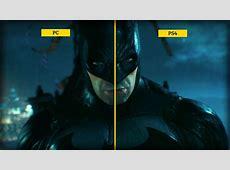 Batman Arkham Knight PS4 and PC Graphics Comparison GameSpot