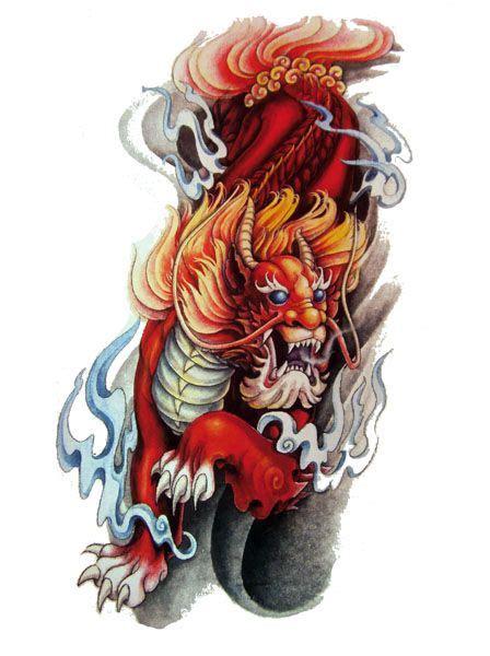 japanese lion tattoo flash designs top quality high