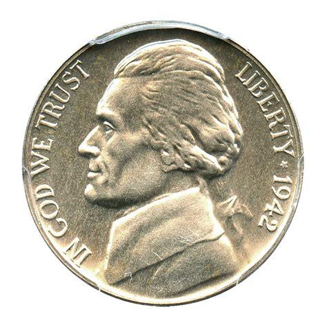 silver nickel 1942 p jefferson nickel 5c pcgs proof 63 type 2 silver war nickel buy sell certified rare