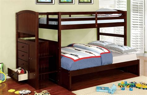 appenzell twin  full bunk bed espresso  furniture