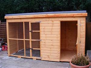 Dog house and run north wales sheds for Dog house and run