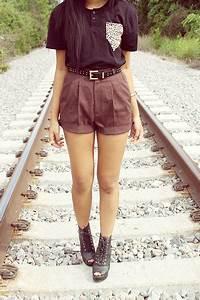 cute fashion lace shorts vintage outfit tops vintage ...