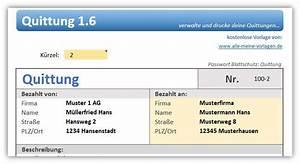 Bestandteile Rechnung : quittung vorlage download ~ Themetempest.com Abrechnung
