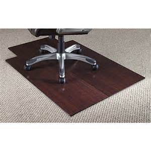 realspace bamboo chair mat 36 w x 48 d 316 thick dark