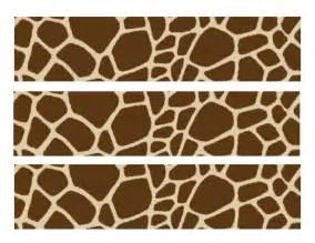 Printable Giraffe Print Borders