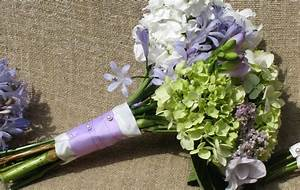 green and purple hydrangea wedding bouquet Archives - The ...