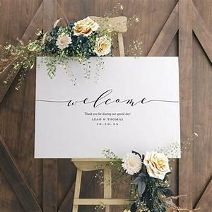 Minimalist, Wedding, Welcome, Sign, Template, Modern, Wedding, Welcome, Sign, Printable, Welcome, Sign