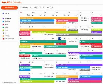 Calendar Tui Open Javascript Github Collect Demo