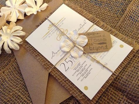 Best 25 Burlap Wedding Invitations Ideas On Pinterest
