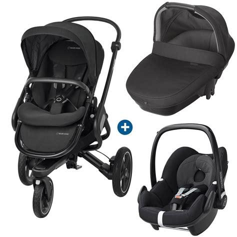 siege auto maxi cosi trio poussette 3 roues nacelle coque bébé