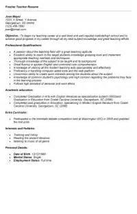 resume format for maths teachers in india teacher resume for freshers