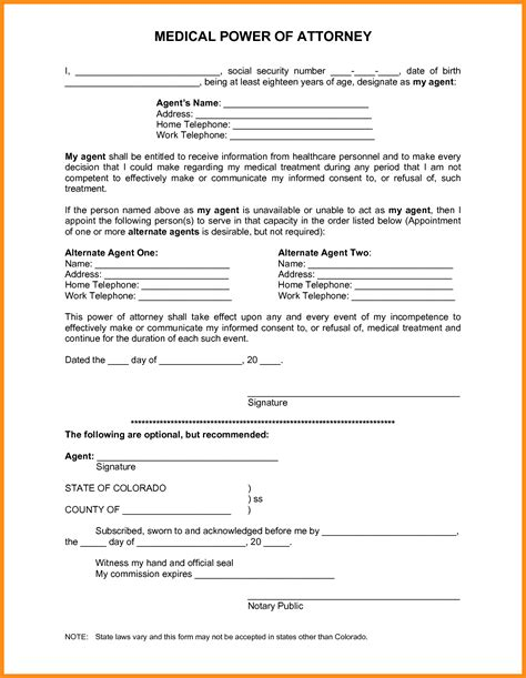 free poa template attorney power of attorney form power of attorney form