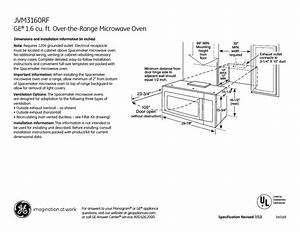 Ge Jvm3160rfss User Manual