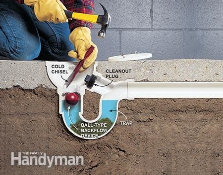 clogged basement floor drain sludge how to unclog a drain the family handyman