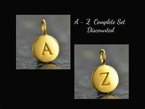 a z small 24k gold plated letter charms With small gold letter charms