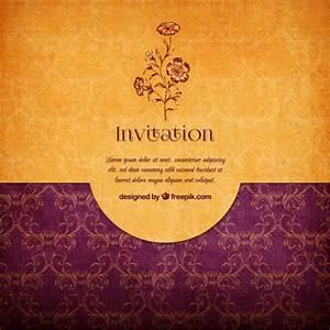 floral elegant invitation vector free download With elegant floral wedding invitations vector