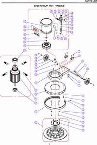 Floor Buffer Parts List