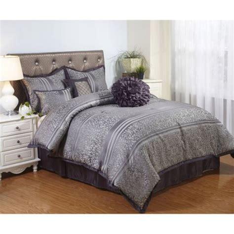 gray bedding comforter set polyester queen size  piece