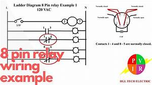 8 Pin Relay Wiring  Relay Connection  8 Pin Relay Connection  Electrical Relay