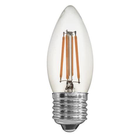 4 watt candle clear dimmable led filament bulb e27