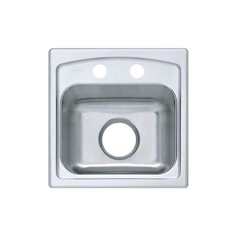 kohler stainless steel sink and faucet package kohler toccata drop in stainless steel 15 in 2 hole