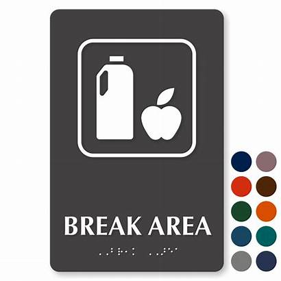 Break Signs Lunch Sign Area Graphic Zoom