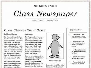 best photos of classroom newspaper template student With microsoft powerpoint newspaper template