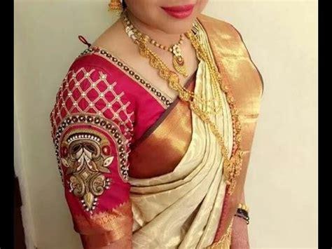 latest maggam work blouses design  youtube