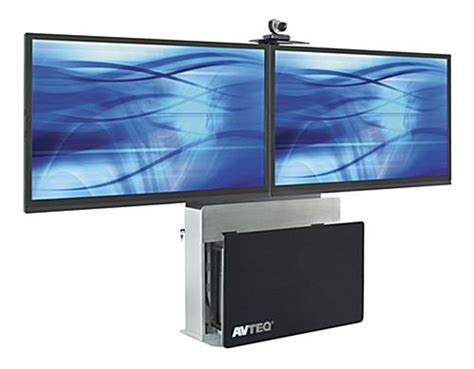 lcd floor stand video conferencing cart  dual mounting