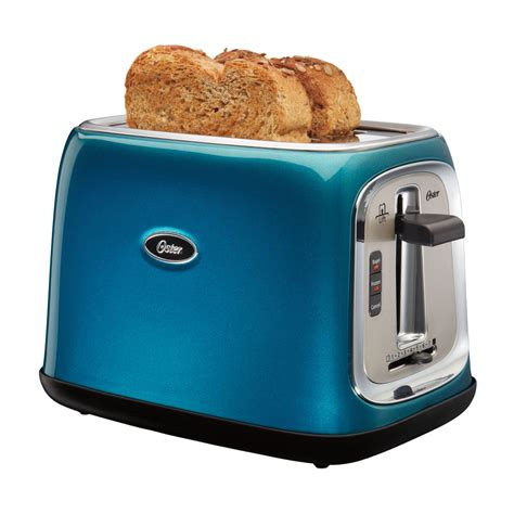 Slice Toaster by Oster 174 2 Slice Toaster Metallic Turquoise