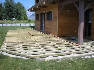 Pose Terrasse Bois Sur Gravier : terrasse bois sur gravier terrasse en bois ~ Premium-room.com Idées de Décoration