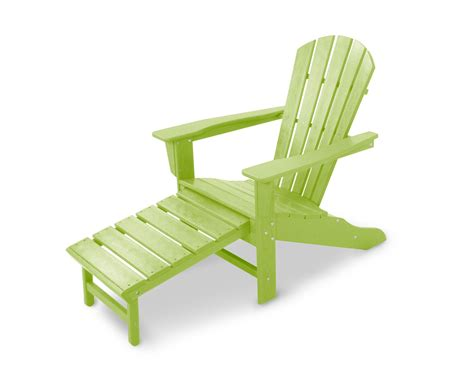 Polywood Adirondack Chair With Pull Out Ottoman by Polywood Ultimate Adirondack Chair W Pullout Ottoman