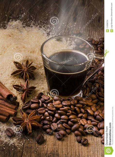 While there are many coffee purists who advocate and stand by black, black and black, it cannot be denied that adding a new extra ingredient to your cup of. Cup Of Flavored Boiling Black Coffee Stock Photo - Image of food, coffee: 114006754