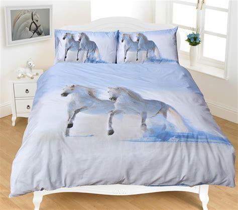 3d Horse Printed Duvet Quilt Bedding Set — Linens Range