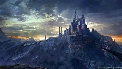 Medieval Castle Mountain Wallpapers Backgrounds Desktop Landscape