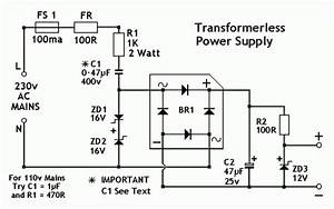 Low Voltage Power Supply Without Transformer Circuit Diagram World