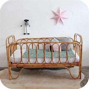 Lit Bebe Rotin : lit b b rotin vintage atelier du petit parc ~ Teatrodelosmanantiales.com Idées de Décoration