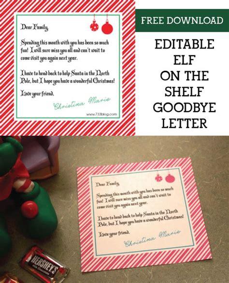 shelf elf goodbye letter elf   shelf shelves