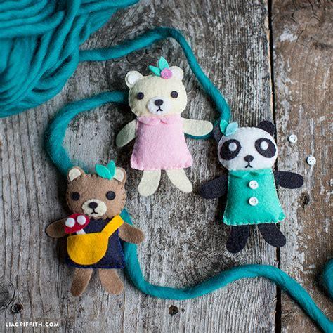 mini bear friends sewing pattern lia griffith