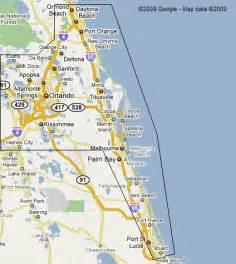 Florida Beaches East Coast Map