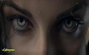 HD Cyberpunk 2077 Eyes Wallpaper Download Free - 126331