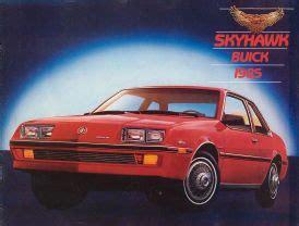 old car manuals online 1986 buick skyhawk lane departure warning 1985 buick skyhawk brochure
