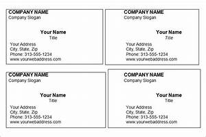 Business card word template thelayerfundcom for Business cards free printable