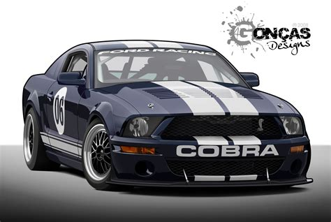 Shelby Gt500 Mustang Cobra By Carguy88 On Deviantart