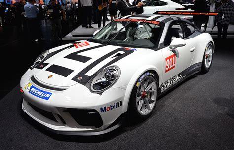 Porsche 911 Gt3 Cup Race Car Rolls Out In Paris