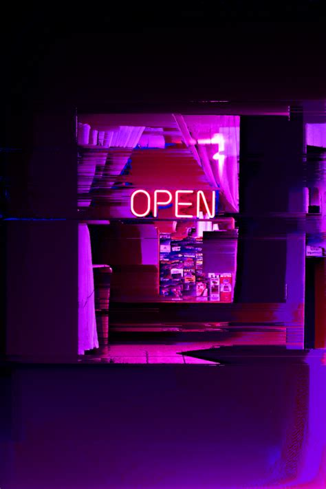 Glitch Purple Neon Aesthetic Wallpaper by Vaporwave Aesthetic Purple Aesthetic Purple